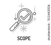 scope line icon | Shutterstock .eps vector #511442026