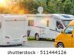 rv park campers. few motorhomes ... | Shutterstock . vector #511444126