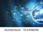 blue disco background with... | Shutterstock . vector #511446046