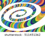 colorful abstract spiral... | Shutterstock .eps vector #511451362
