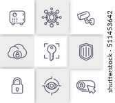 security line icons set  secure ... | Shutterstock .eps vector #511453642
