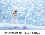 christmas glass ball with... | Shutterstock . vector #511453822