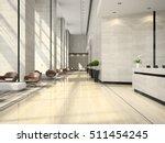 Stock photo interior of hotel reception d illustration 511454245