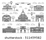 world famous st. peter basilica ... | Shutterstock .eps vector #511459582