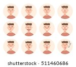 set of boy emotions. schoolboy... | Shutterstock .eps vector #511460686