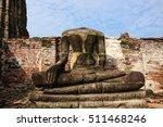 beheaded buddha statue in wat