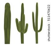 Isolated Saguaro Cactus Set....