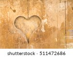 wood with a carved heart | Shutterstock . vector #511472686
