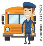 caucasian happy school bus... | Shutterstock .eps vector #511474078