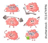 funny brain training with... | Shutterstock .eps vector #511474996