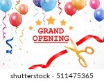grand opening banner with... | Shutterstock .eps vector #511475365