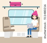 young passenger sitting in the... | Shutterstock .eps vector #511480216