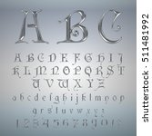 elegant silver platinum font... | Shutterstock .eps vector #511481992
