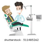 young hipster man sitting at... | Shutterstock .eps vector #511485262