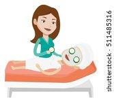 cosmetologist applying face... | Shutterstock .eps vector #511485316