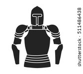 plate armor icon in black style ... | Shutterstock .eps vector #511486438