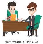 two businessmen talking on... | Shutterstock .eps vector #511486726