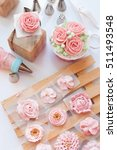Decorating Cake  Piping Flowers ...