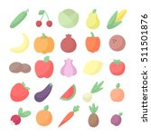 vegetables and fruits colored... | Shutterstock .eps vector #511501876
