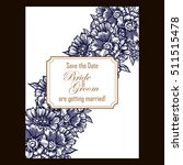 romantic invitation. wedding ... | Shutterstock . vector #511515478