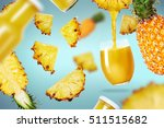 pineapple juice poured in a... | Shutterstock . vector #511515682