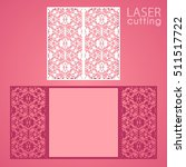 laser cut wedding invitation... | Shutterstock .eps vector #511517722