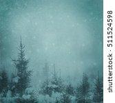 moon night background in winter ... | Shutterstock . vector #511524598