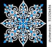 christmas snowflake crystal... | Shutterstock .eps vector #511526656