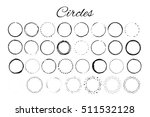 handdrawn elements with circles ... | Shutterstock .eps vector #511532128