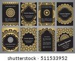 vector templates with mandala... | Shutterstock .eps vector #511533952
