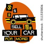 sell your car for more   flat... | Shutterstock .eps vector #511535806