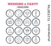 wedding and party icons. dress  ... | Shutterstock .eps vector #511538746