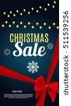 christmas sale banner... | Shutterstock .eps vector #511539256
