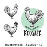 rooster logotypes set. rooster... | Shutterstock .eps vector #511539442