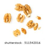 Walnuts Kernel Isolated On...