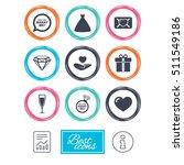 wedding  engagement icons. love ...   Shutterstock .eps vector #511549186