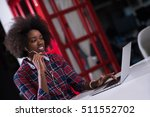 black woman in modern office at ... | Shutterstock . vector #511552702