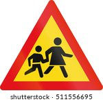 temporary road sign used in the ... | Shutterstock . vector #511556695