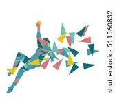 climber silhouette woman vector ... | Shutterstock .eps vector #511560832