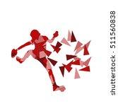 climber silhouette woman vector ... | Shutterstock .eps vector #511560838