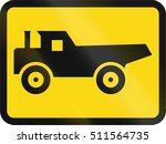 temporary road sign used in the ... | Shutterstock . vector #511564735