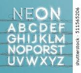 realistic neon character... | Shutterstock .eps vector #511565206