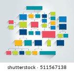 big flowchart scheme. | Shutterstock .eps vector #511567138