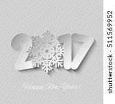 vector happy new year 2017...   Shutterstock .eps vector #511569952