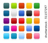 colored matted blank rounded...   Shutterstock .eps vector #51157297