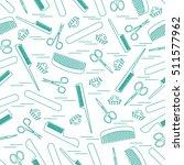cute pattern of scissors for... | Shutterstock .eps vector #511577962