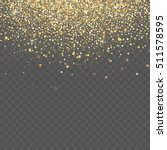 vector gold glitter background. ... | Shutterstock .eps vector #511578595