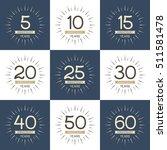 vector set of anniversary... | Shutterstock .eps vector #511581478