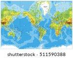 america centered physical world ... | Shutterstock .eps vector #511590388
