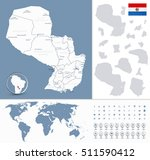 paraguay map navigation set.... | Shutterstock .eps vector #511590412